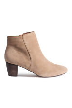 Suede ankle boots - Light beige - Ladies | H&M CN 2