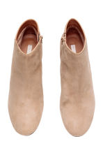 Suede ankle boots - Light beige - Ladies | H&M CN 3