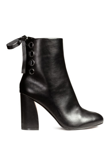 Ankle boots with lacing - Black - Ladies | H&M CN 1