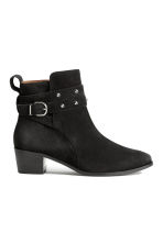 Suede boots - Black - Ladies | H&M GB 2