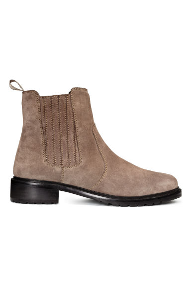 Lined suede Chelsea boots - Mole - Ladies | H&M CN 1