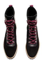 Suede boots - Black - Ladies | H&M CN 3