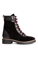 Suede boots - Black - Ladies | H&M CN 2