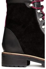 Suede boots - Black - Ladies | H&M CN 5