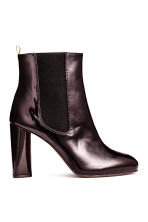 Patent ankle boots - Plum - Ladies | H&M CN 1