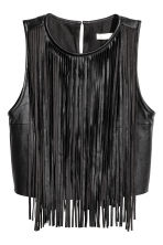 Fringed top - Black - Ladies | H&M CN 2