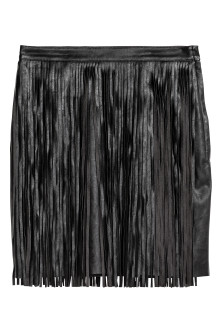 Short fringed skirt