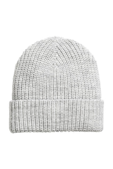 Wool-blend hat - Light grey - Ladies | H&M CN 1