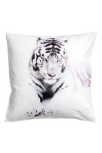 Photo print cushion cover - White/Tiger - Home All | H&M CN 1