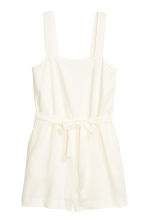 Lyocell playsuit - Natural white - Ladies | H&M CN 2