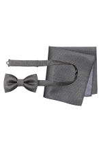 Bow tie and handkerchief - Grey - Men | H&M CN 1