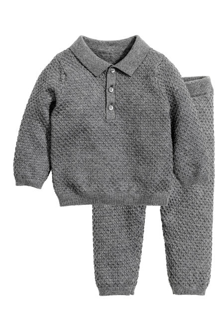 Knitted jumper and trousers