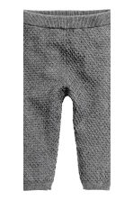 Knitted jumper and trousers - Dark grey marl -  | H&M CN 3