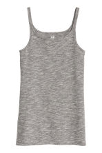 Jersey vest top - Black marl - Kids | H&M CN 1