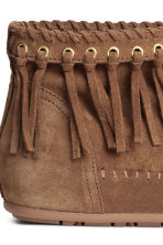 Suede boots - Brown - Ladies | H&M CN 4