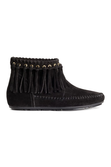 Suede boots - Black - Ladies | H&M CN 1