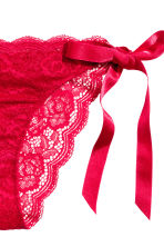 Lace briefs with ties - Red - Ladies | H&M CN 3