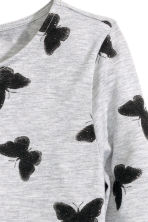 Printed jersey top - Grey/Butterflies - Kids | H&M CN 3