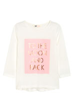 Printed jersey top - White - Kids | H&M CN 2