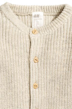 Ribbed cardigan - Light beige - Kids | H&M CN 2
