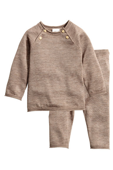 Silk-blend top and trousers - Mole - Kids | H&M CN 1
