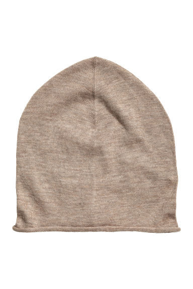 Hat in a silk blend - Mole -  | H&M CN 1