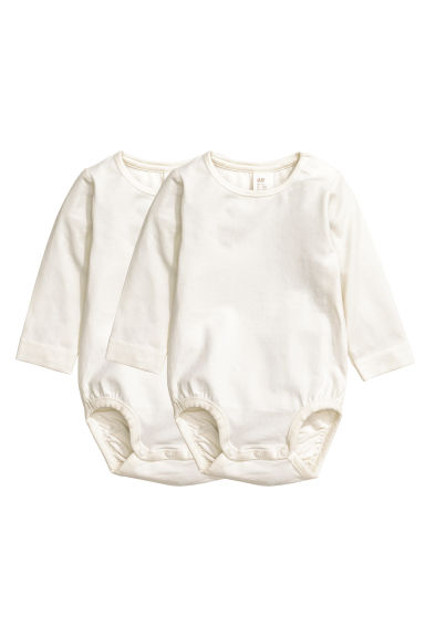 2-pack pima cotton bodysuits - White - Kids | H&M CN 1