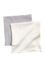 2-pack muslin squares - White -  | H&M CN 2