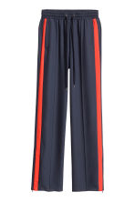 Wide trousers - Dark blue/Red - Ladies | H&M GB 2