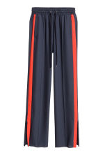 Wide trousers - Dark blue/Red - Ladies | H&M GB 3