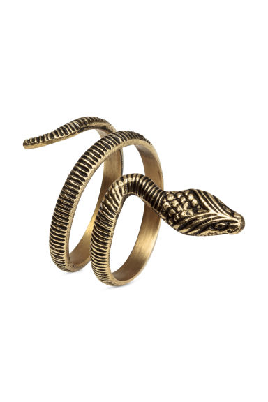 2-pack napkin rings - Gold - Home All | H&M CN 1
