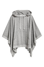 Poncho with a hood - Grey marl - Ladies | H&M CN 2