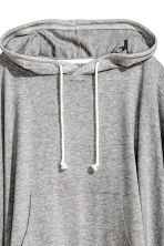 Poncho with a hood - Grey marl - Ladies | H&M CN 3