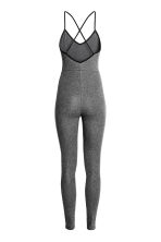 Jersey jumpsuit - Dark grey marl - Ladies | H&M CN 3