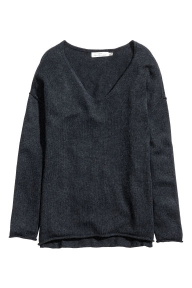 Fine-knit jumper - Dark grey marl - Ladies | H&M CN 1
