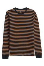 Waffled top - Dark blue/Striped - Men | H&M CN 2