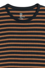 Waffled top - Dark blue/Striped - Men | H&M CN 3