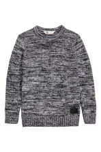 Knitted jumper - Dark grey marl -  | H&M CN 2