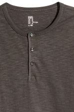Henley shirt - Dark grey - Men | H&M CN 3