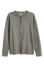 Henley shirt - Grey marl/Multi - Men | H&M CN 2