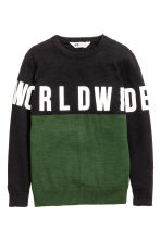 Knitted jumper - Dark green - Kids | H&M CN 2