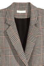 Double-breasted jacket - Light beige/Dogtooth - Ladies | H&M GB 3