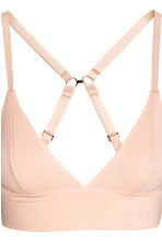 2-pack non-wired cotton bras - Powder pink/Black - Ladies | H&M CN 4