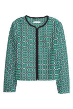 Jacket with a textured pattern - Green/White - Ladies | H&M CN 2