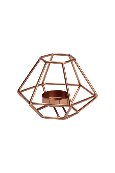 Metal tealight holder - Copper - Home All | H&M GB 1