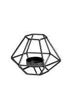 Metal tealight holder - Black - Home All | H&M CA 1