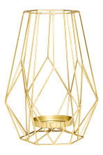 Large metal candlestick - Gold - Home All | H&M CN 1