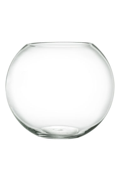 Large glass vase - Clear glass - Home All | H&M CN 1