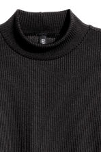 Ribbed turtleneck jumper - Black - Ladies | H&M CN 3
