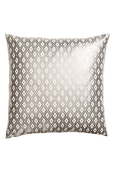 Patterned cushion cover - Natural white/Silver - Home All | H&M CN